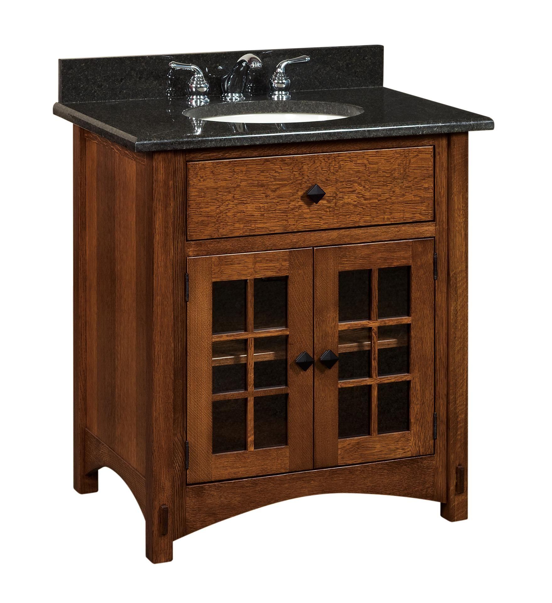 Amish Bathroom Vanity Solid Wood 33 Lucern Mission Sink Console