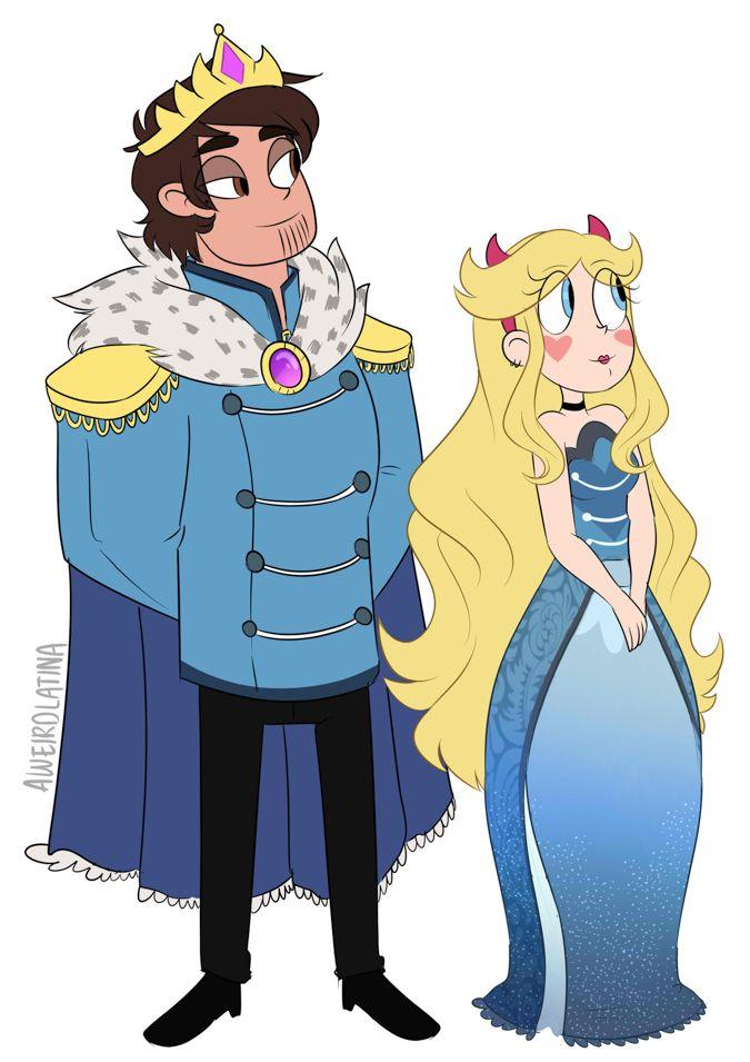 взрослые звёздочка и марко король и королева мьюни