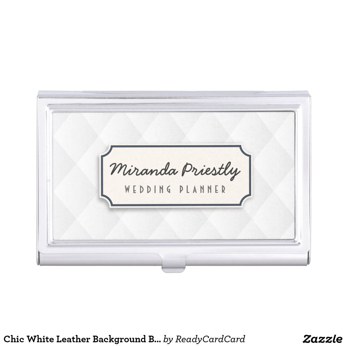Chic white leather background business card holder background chic white leather background business card holder colourmoves