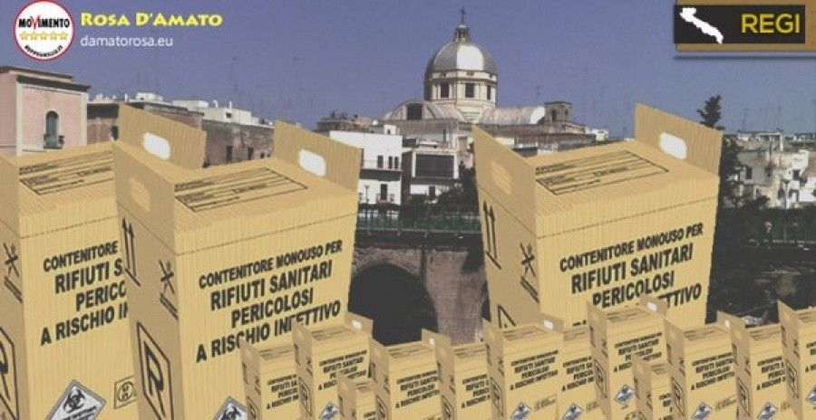Massafra (Ta) - D'Amato (M5S) - Revocare Aia e monitorare i rifiuti sanitari in impianto Cisa