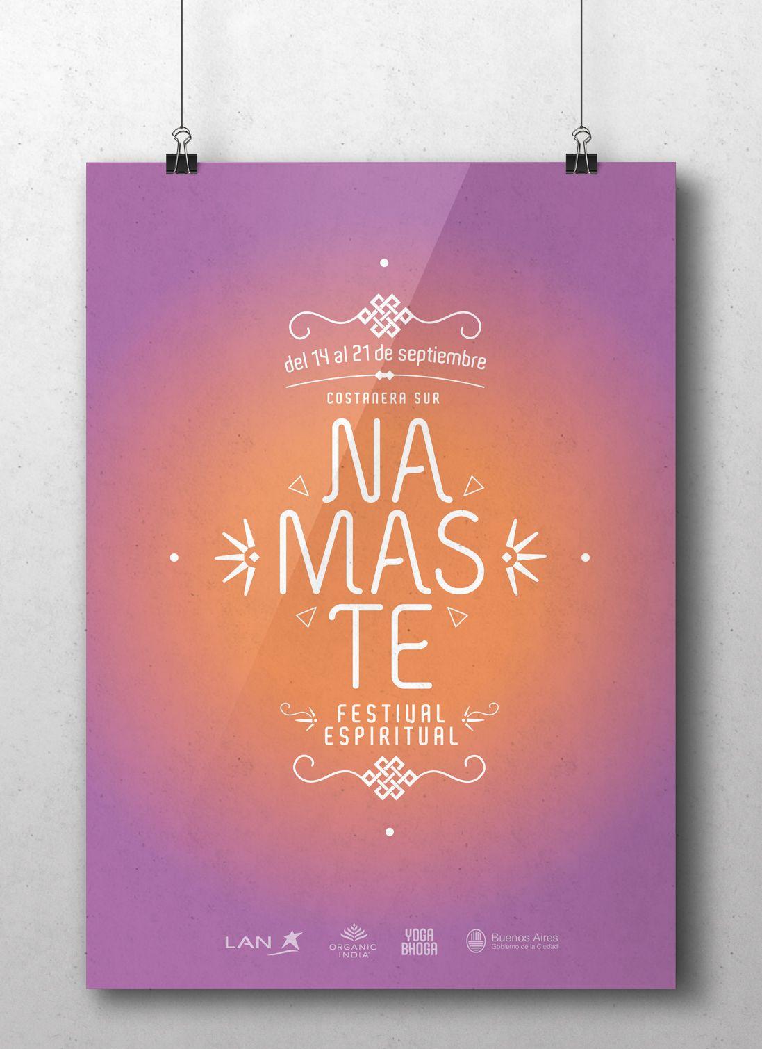 Poster Branding Namasté Festival