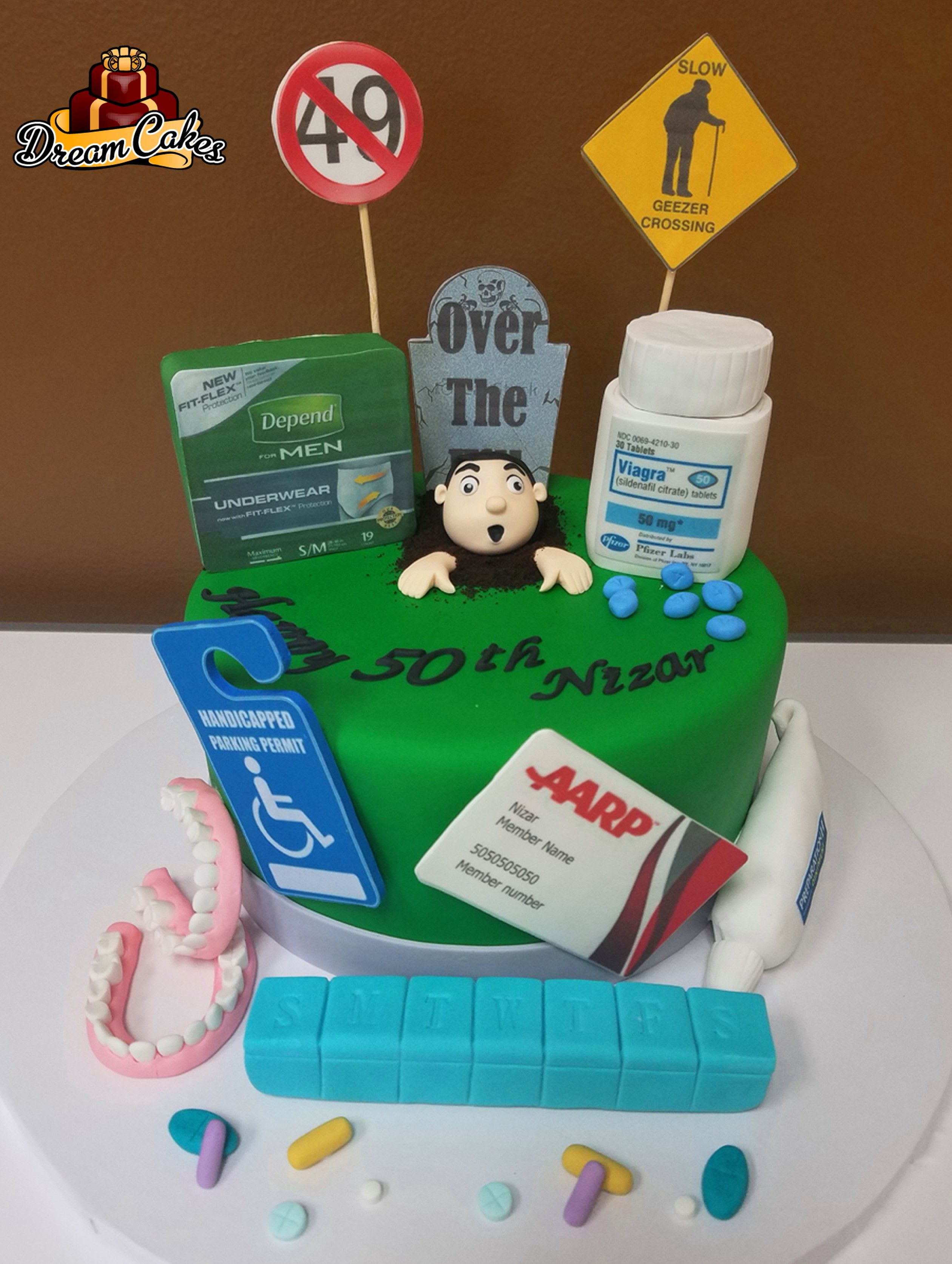 Over The Hill Cake By Dream Cakes Chicago With Images Funny
