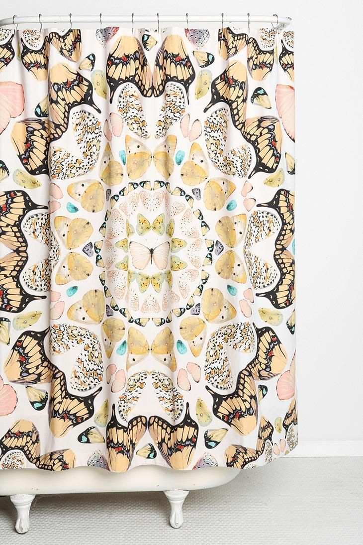 plum shower curtains. Plum \u0026 Bow Butterfly Shower Curtain #urbanoutfitters Curtains
