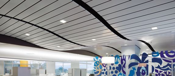 Commercial Ceiling| Armstrong Ceiling| Armstrong MetalWorks Linear| Metal|  Silver Grey| 4