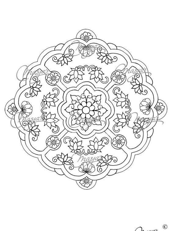 Masja\'s Mandala Hand-drawn Coloring page 8 by MasjasArtwork | Keep ...