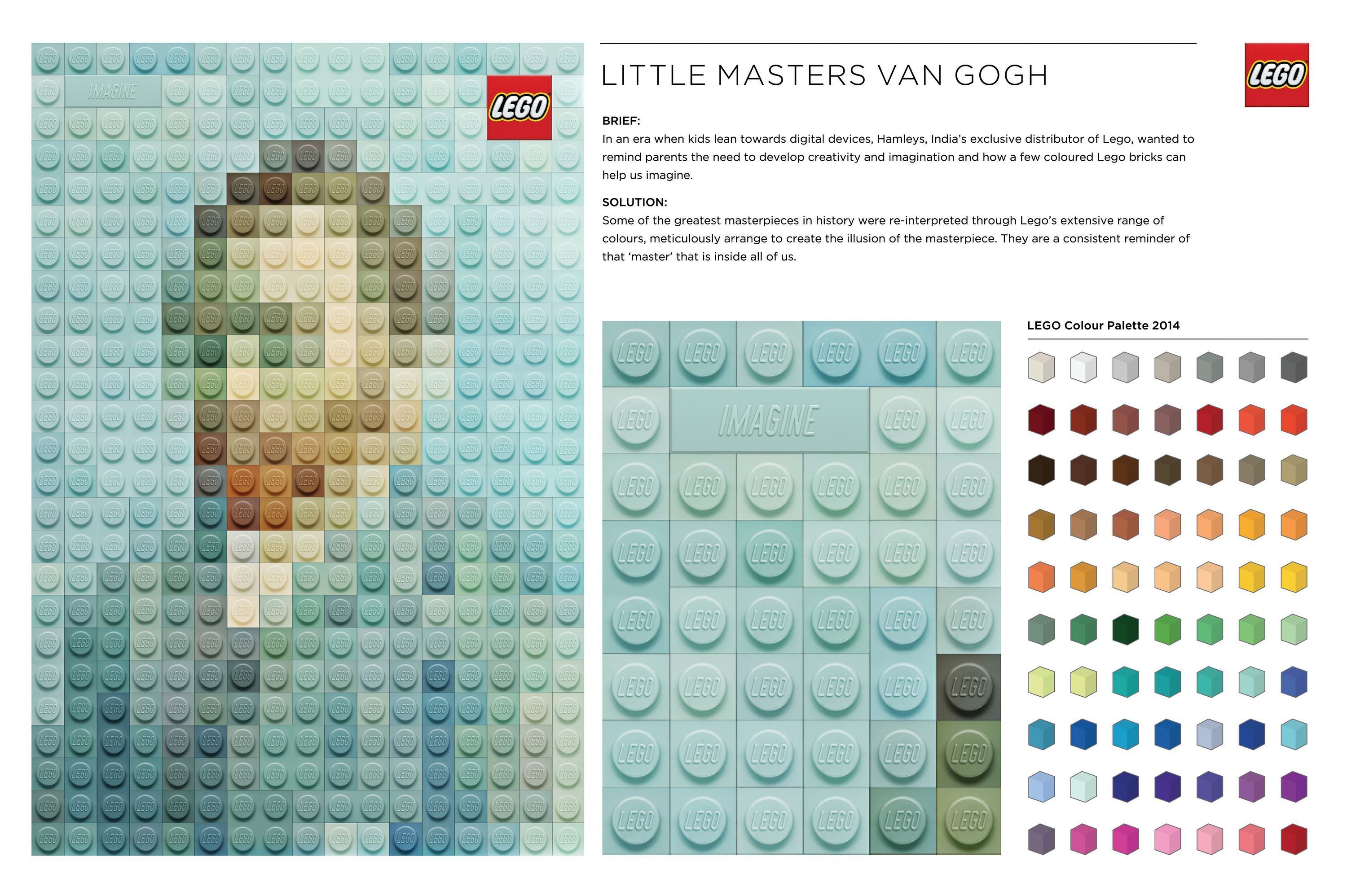 Magritte / Van Gogh / Wood | Creative Lego Art Advertising Posters ...