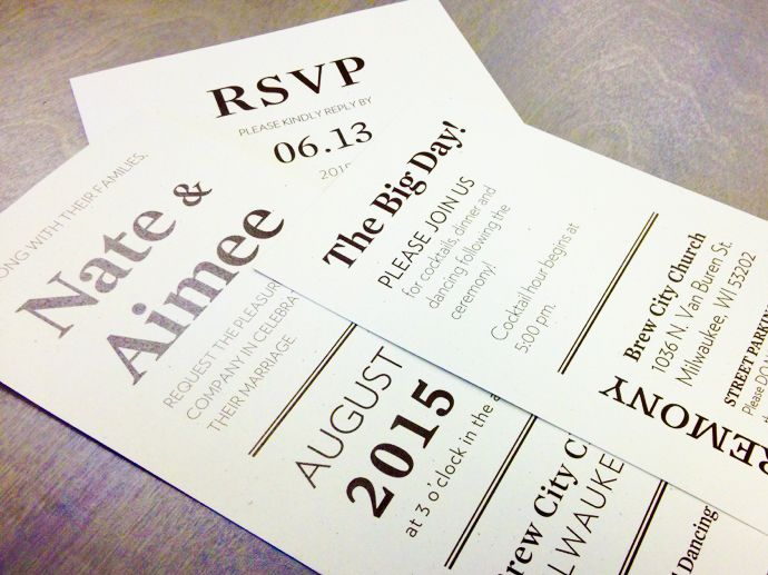 Modern black and white wedding stationery by Paperwhites (paperwhites-invitations.com)