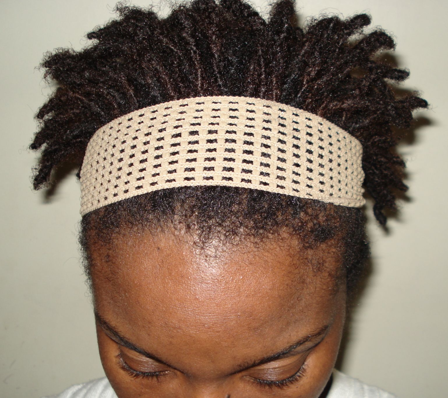 really short starter locs, but with a little accessorizing