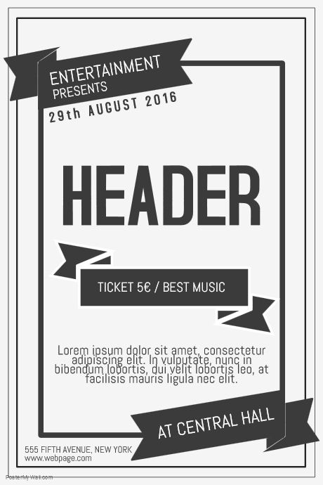 Old Vintage Retro Indie Concert Band Poster Flyer Template