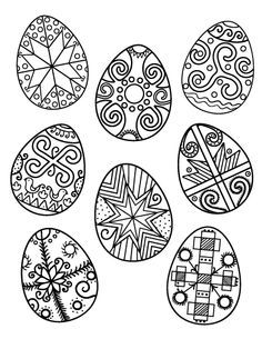 Printable Ukrainian Easter Egg Coloring Page Free PDF Download At Coloringcafe