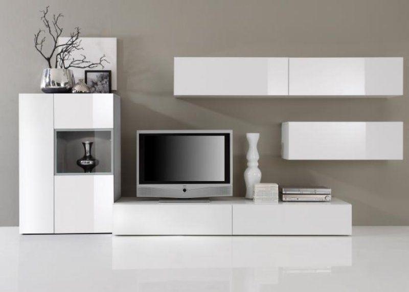 Elegant Günstige Wohnwand Weiß Einrichtungsideen di 2018