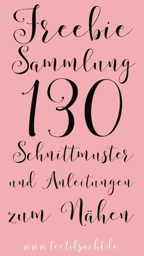 Photo of Freebie Sammlung: 130 kostenlose Schnittmuster » Textilsucht®