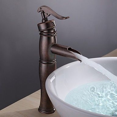#Bathroom Sink Tap with Vintage Centerset Antique Copper Finish Single Handle Brass Tap - Antique Taps