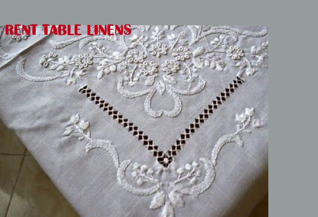 Rent table linens linen embroidery tablecloth pinterest rent rent table linens junglespirit Images