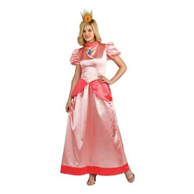 Princess Peach Adult Costume Clothing  sc 1 st  Pinterest & Amazon.com: Super Mario Bros. - Princess Peach Adult Costume ...