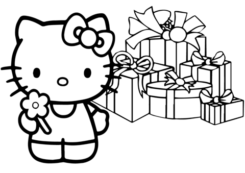 Hello Kitty Happy Christmas Coloring Page Hello Kitty Colouring Pages Hello Kitty Coloring Kitty Coloring