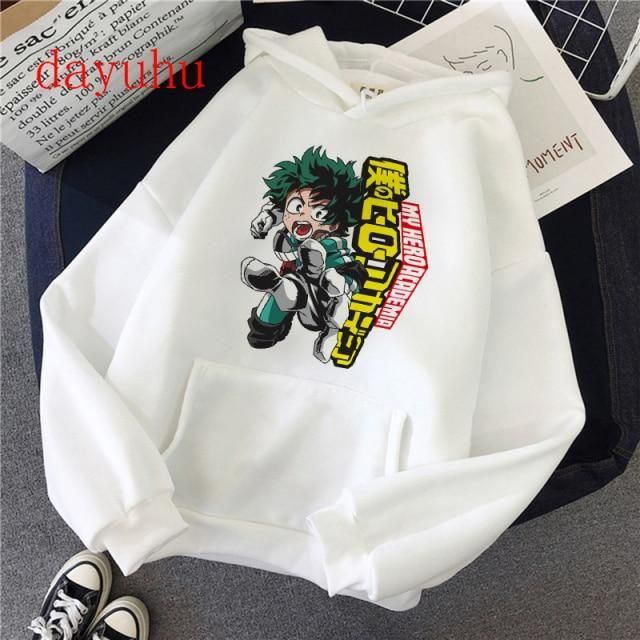 Photo of Japanese Anime  Men Hoodie Streetwear  Hero Academia – white10310 / L
