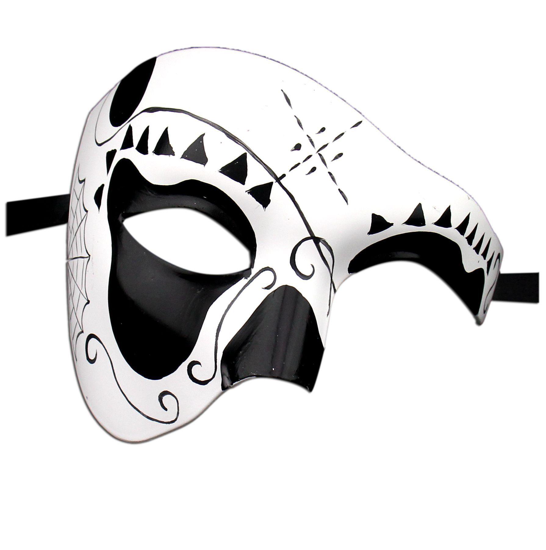 Luxury Mask Womenu0027s Day Of The Dead Half Face Phantom Mask Halloween Mardi  Gras One Size Multi/Lm3: Amazon.co.uk: Clothing