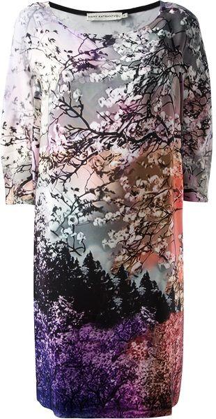 Mary Katrantzou Multicolor Dijon Shift Dress