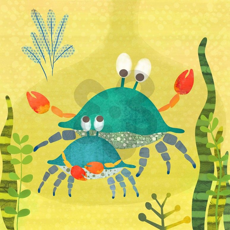 Crab Pals - Animals Canvas Wall Art | Oopsy daisy | nursery | Pinterest