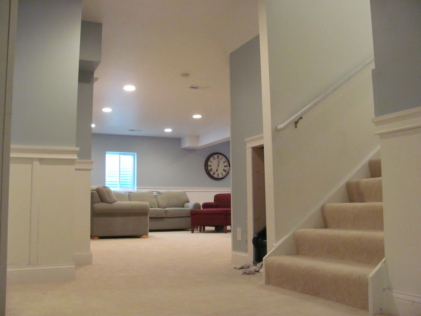 Lovely Basement Family Rooms · Finished Basement Colors ...