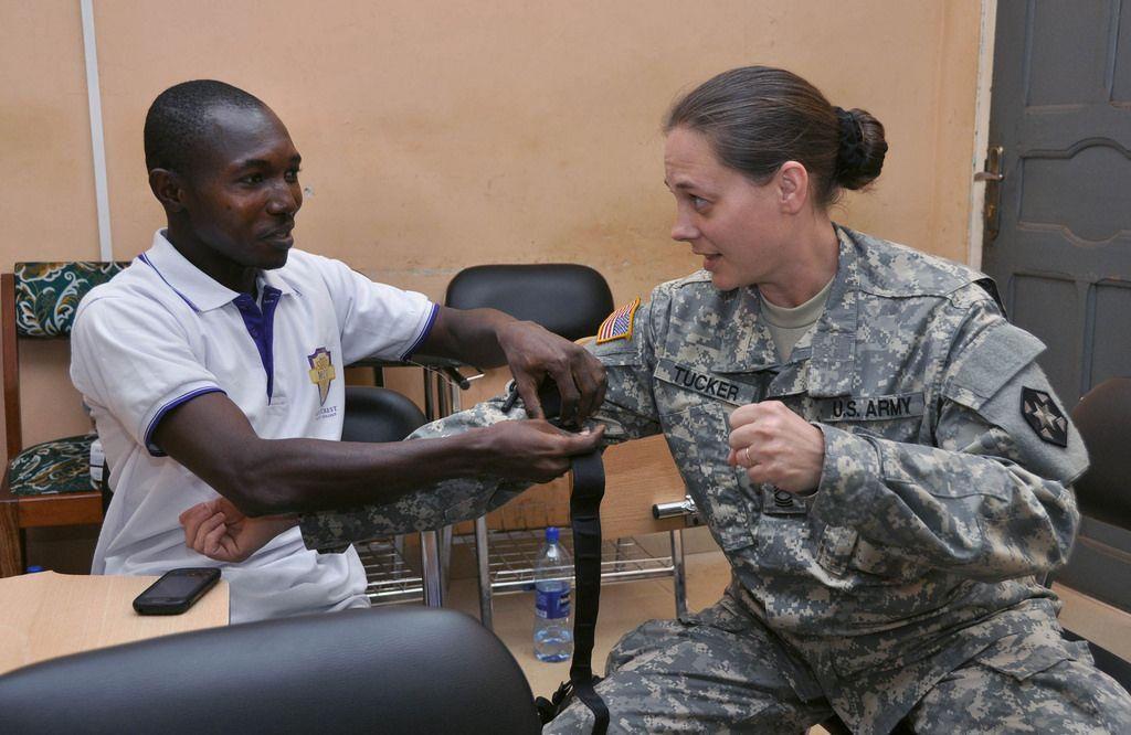 Master Sgt Jennifer Tucker Bravo Company 405th Combat Support Hospital Chief Ward Master Assists Moham Medical Professionals Bravo Company Fitness Training