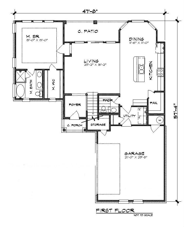 The Bellasera Fairlake 5208 3 Bedrooms And 2 Baths The House Designers Floor Plans Cottage House Plans How To Plan