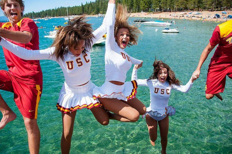 USC Song Girls, Lake Tahoe, 2014