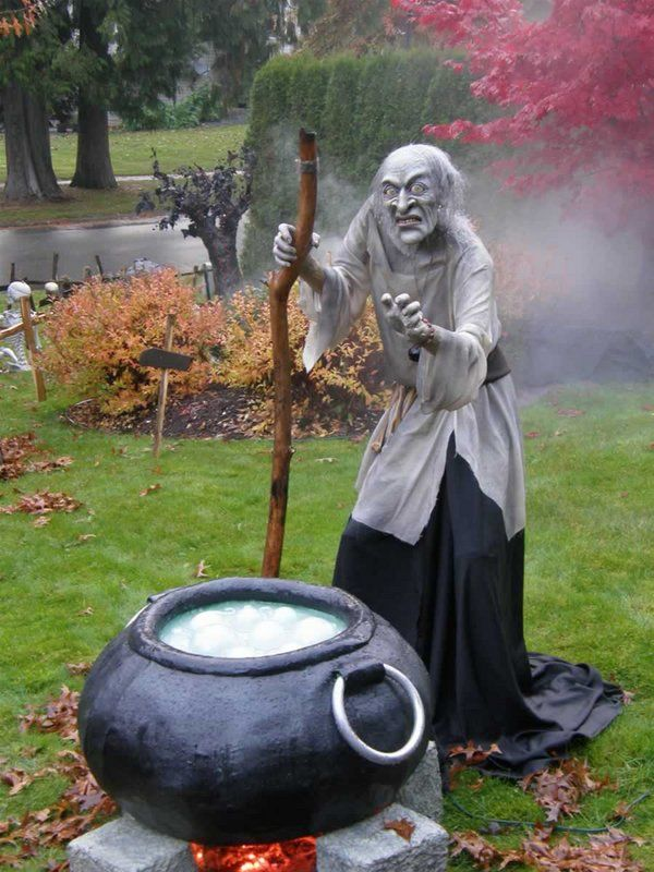 halloween yard decorating ideas halloween props witch bubbling cauldron led lights