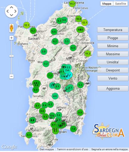 Sardegna Clima Onlus presenta l'app per consultare i dati meteorologici in diretta dalla rete amatoriale regionale.  http://Mobogenie.com