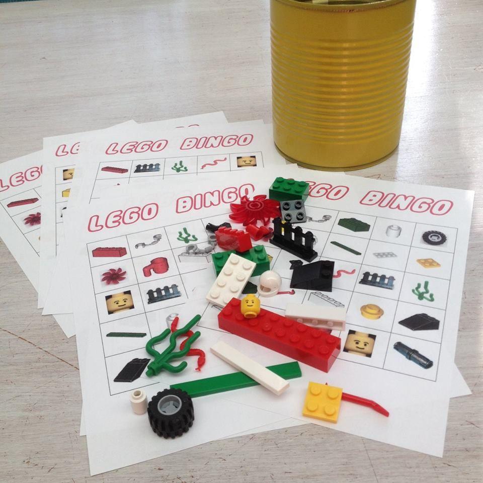 lego bingo  kinderfeestje lego kind