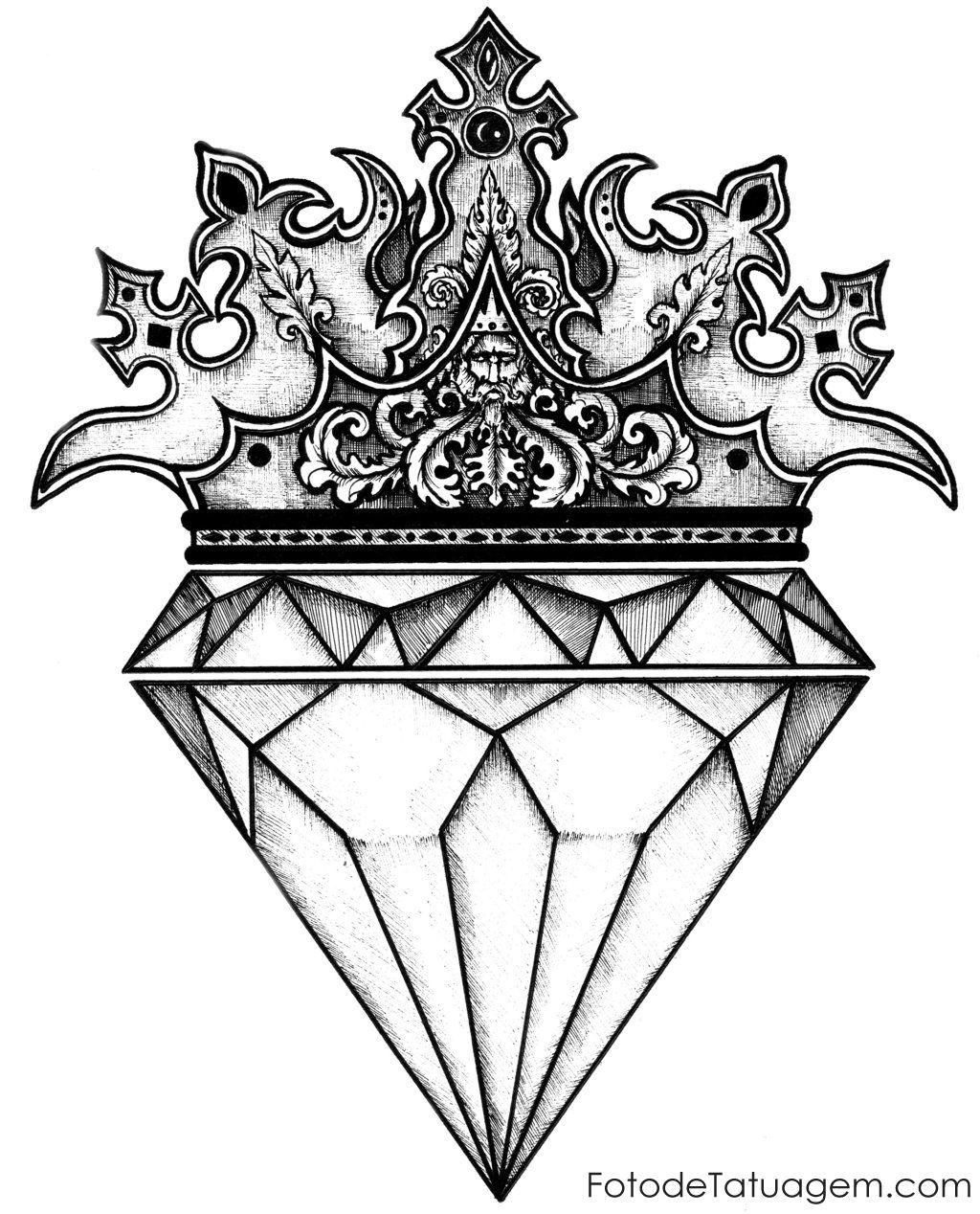Diamante Desenho Pesquisa Google Diamante Tatuagem