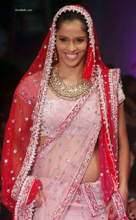 Saina Nehwal, the Indian Badminton Star rocks the ramp at Hyderabad ...
