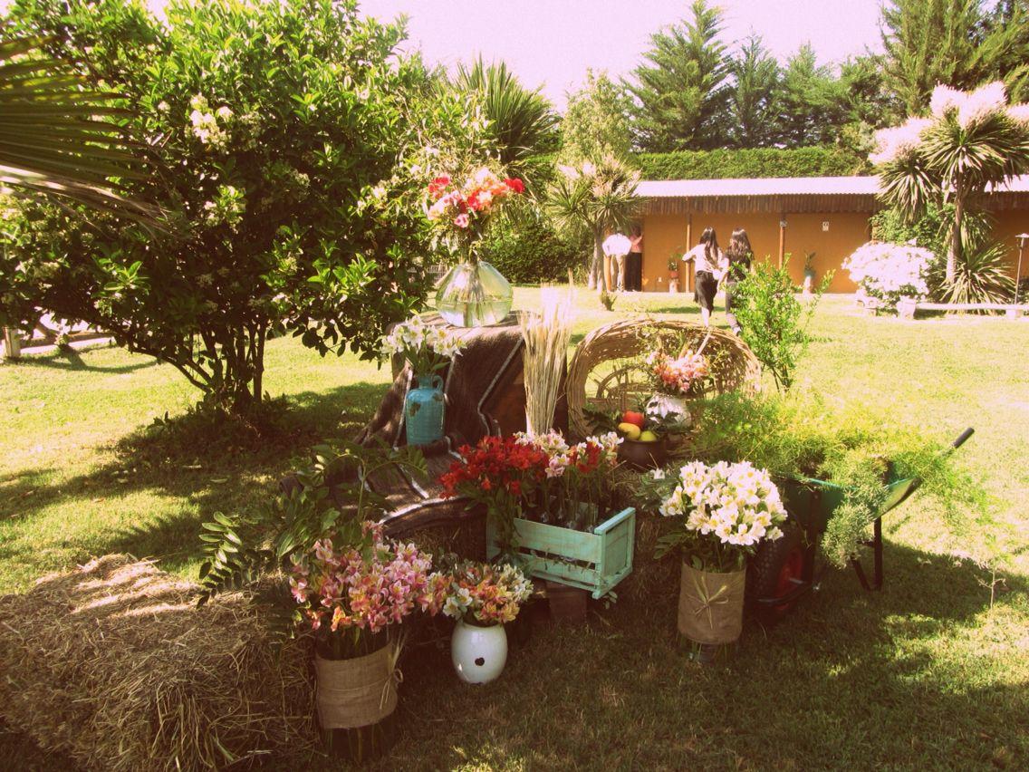 Decoraci n matrimonio campestre inspirada en el campo for Jardines rusticos campestres