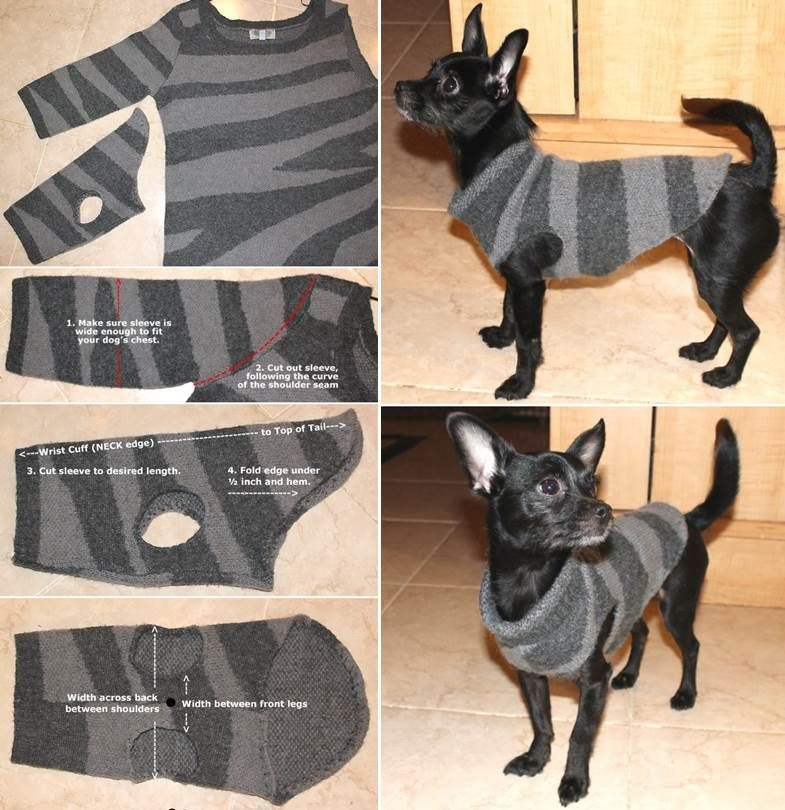 Wonderful DIY Recycled Dog and Cat Sweater #dogcrochetedsweaters