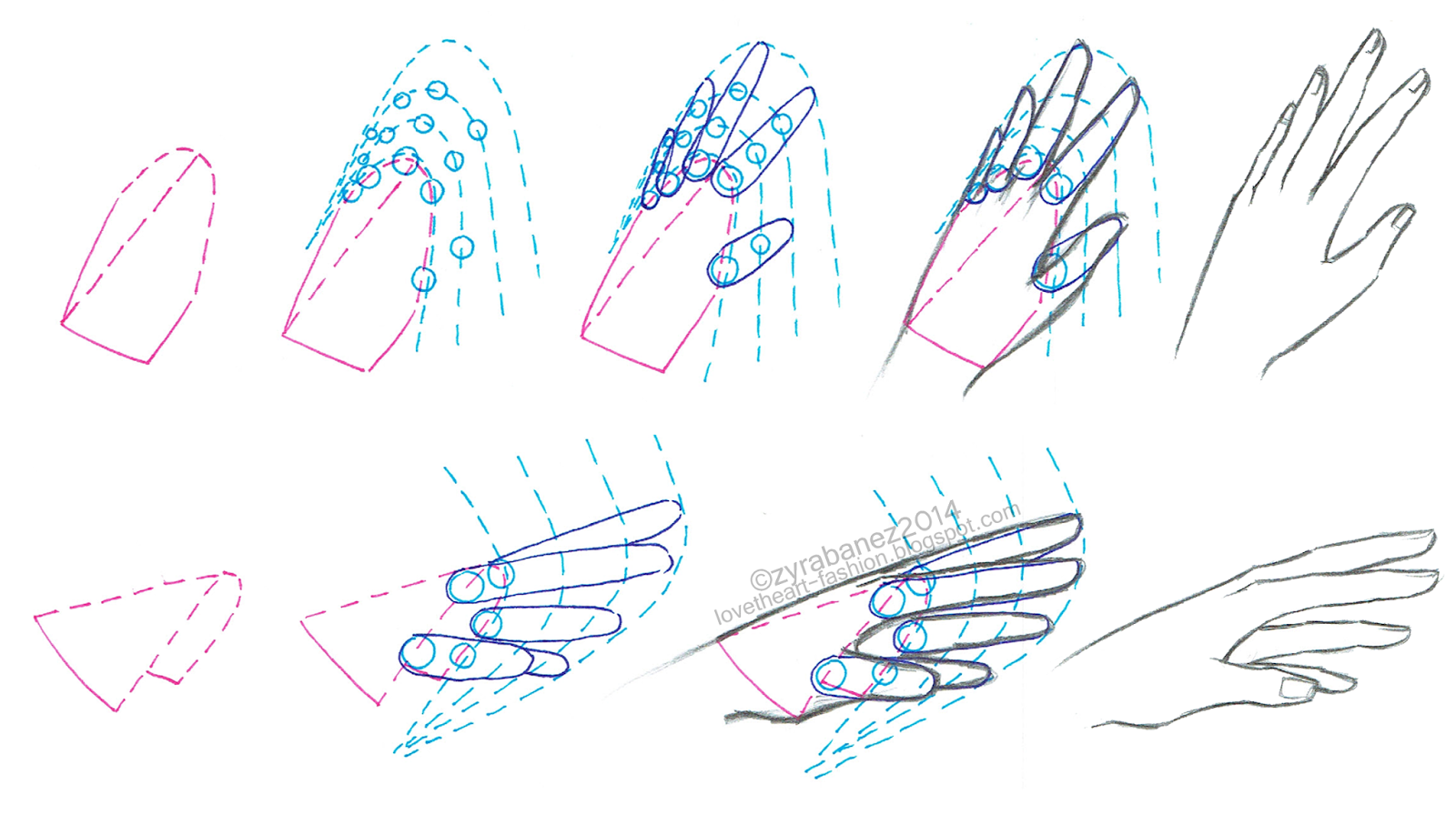 LOVEtHEART Fashion Illustration DRAWING HANDS