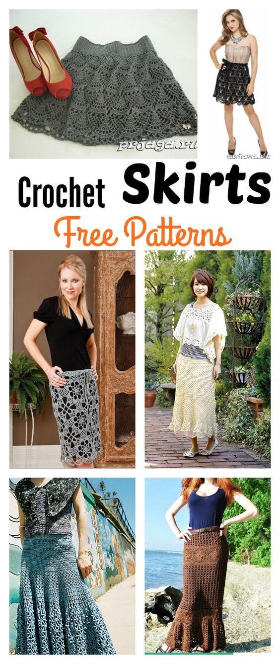 Crochet Skirts Free Patterns | Häkeln und Kleidung