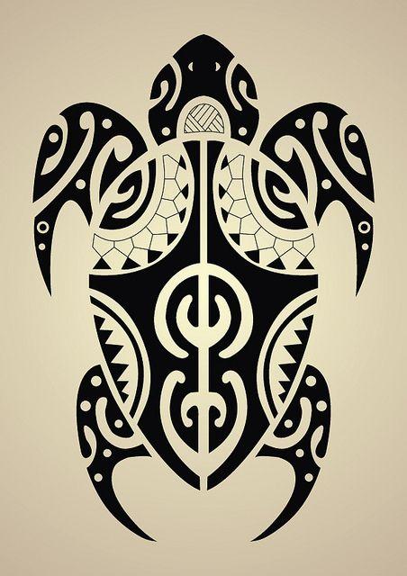 maori, tattoo, turtle