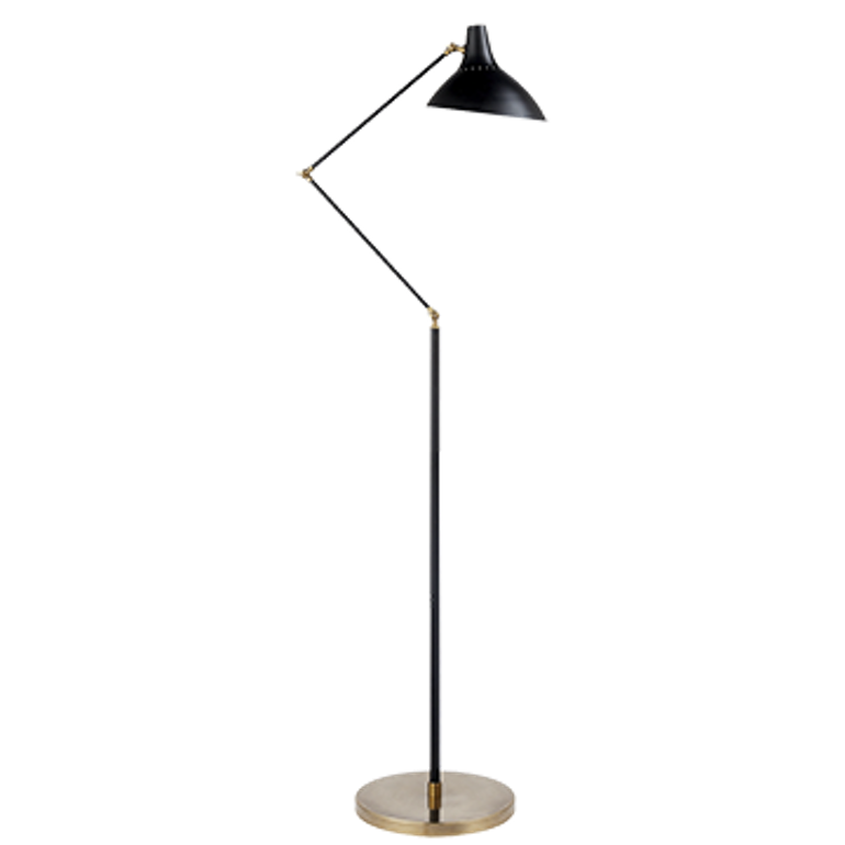 Angular Black And Gold Floor Lamp  MidCentury  Modern, Metal, Floor by English Country Home