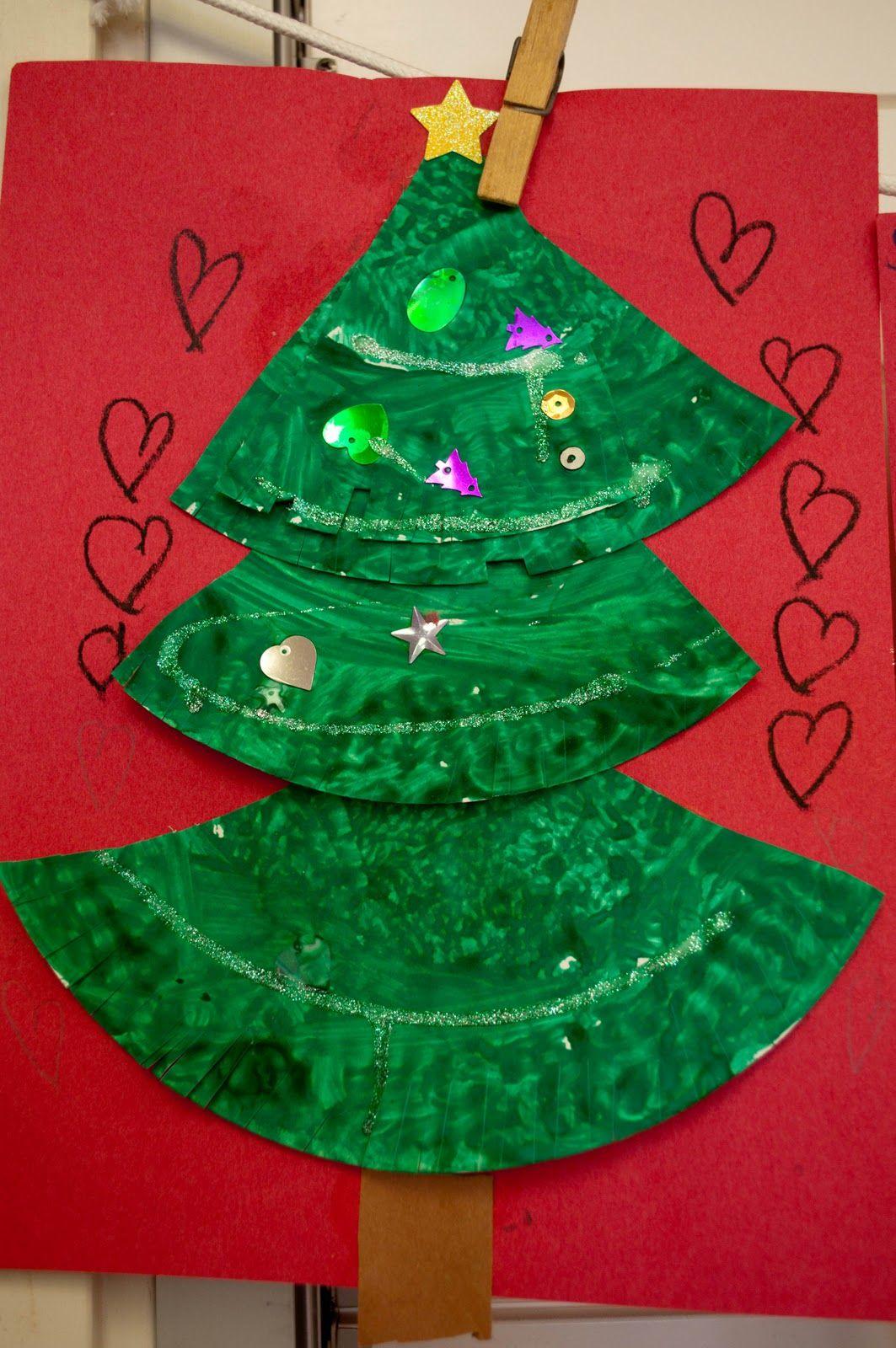 Christmas Tree Craft Ideas For Preschoolers Part - 32: Christmas Tree Craft With Paper Plates · Kindergarten ProjectsKindergarten  ...