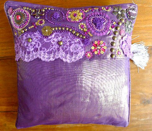 Decorative Throw Cushion cover for the Belly by PoisonBabe on Etsy