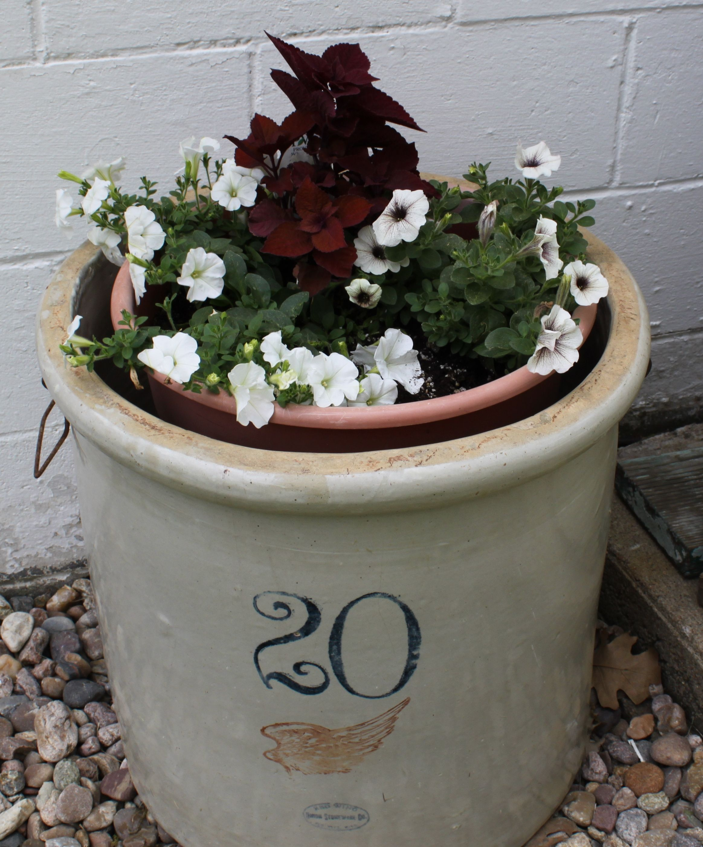 20 Gal. Crock Planter @Red Wing Stoneware By Spompinato U0026 Co..com