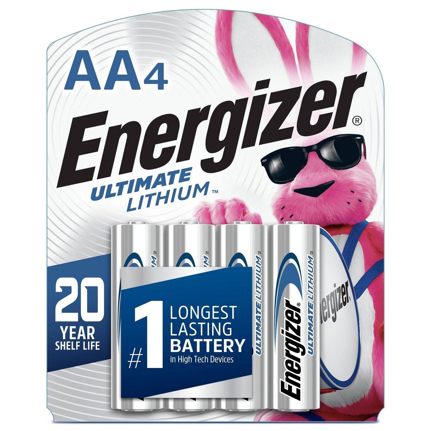 Energizer 4pk Ultimate Lithium Aa Batteries