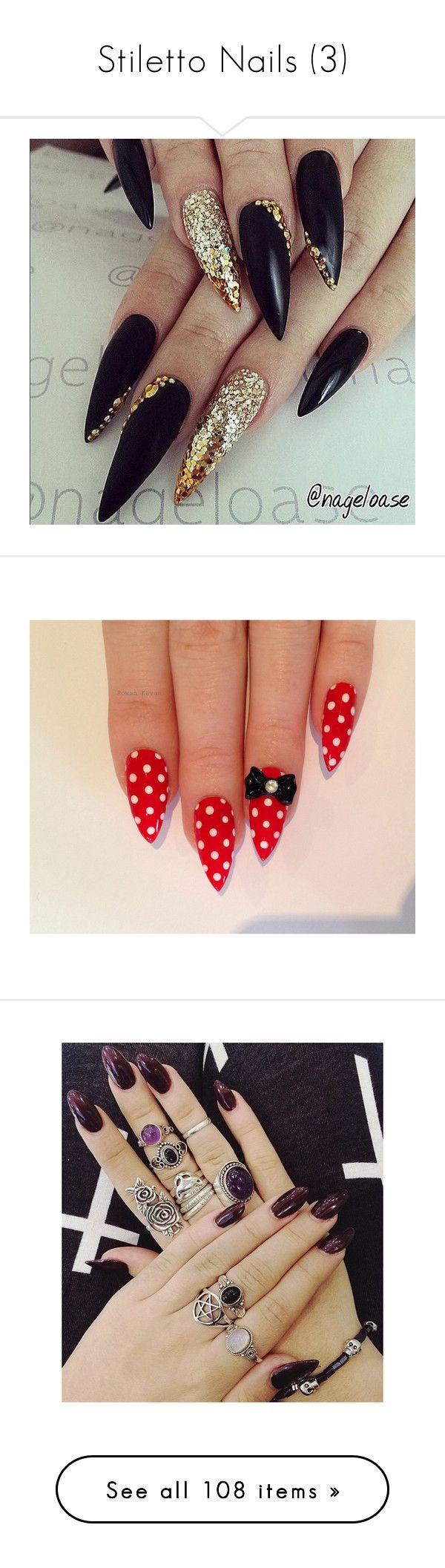 Stiletto Nails (3 | Dark nail polish, Dark nails and Stilettos