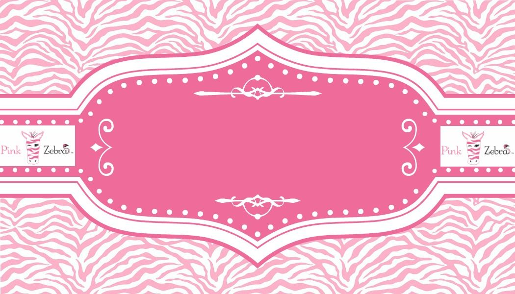 Free Pink Zebra Business Card Templates Sprinkle Recipes - fresh zebra invitation template free