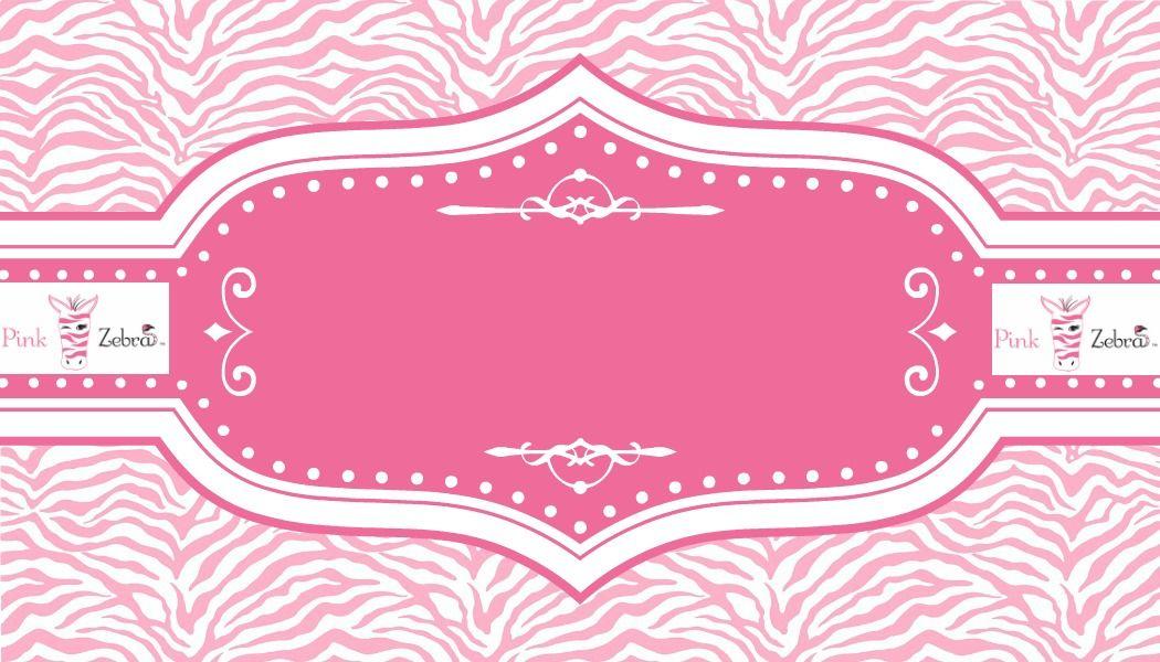 Free Pink Zebra Business Card Templates
