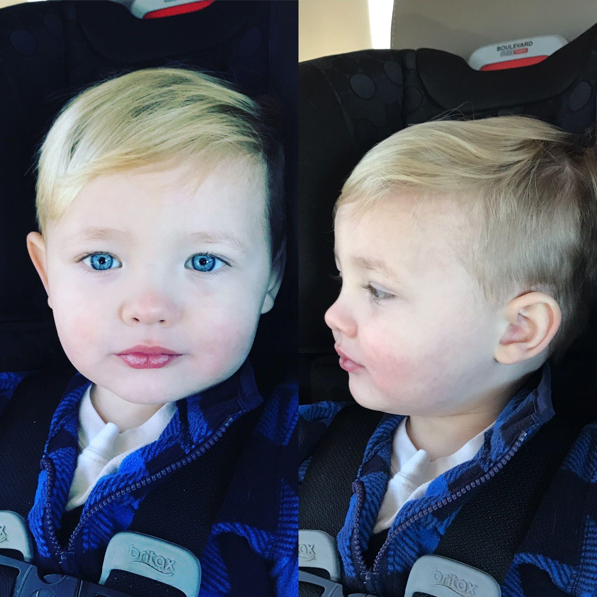 baby hair blonde thin cut haircut hairstyle toddler 2017