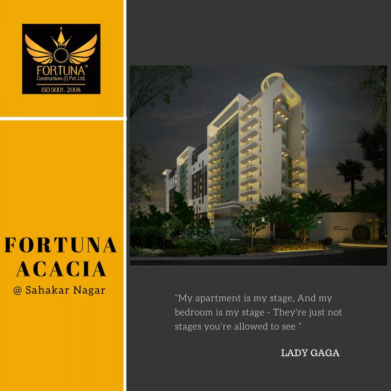 "Always Go For Elite.....Fortuna Constructions Proudly Presents ""Fortuna Acacia"" In Sahakar Nagar.......Visit  http://www.fortunaconstructions.com/fortuna-acacia/overview.html"