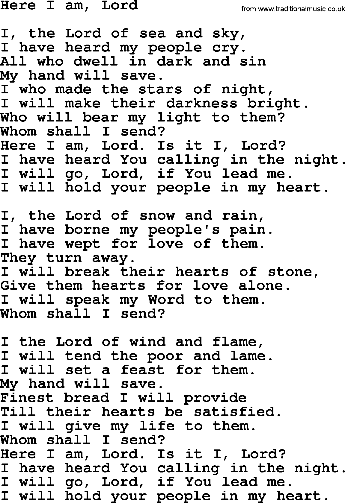 Here I am Lord| Hymn| One of my favorite church songs  😊 | Just for