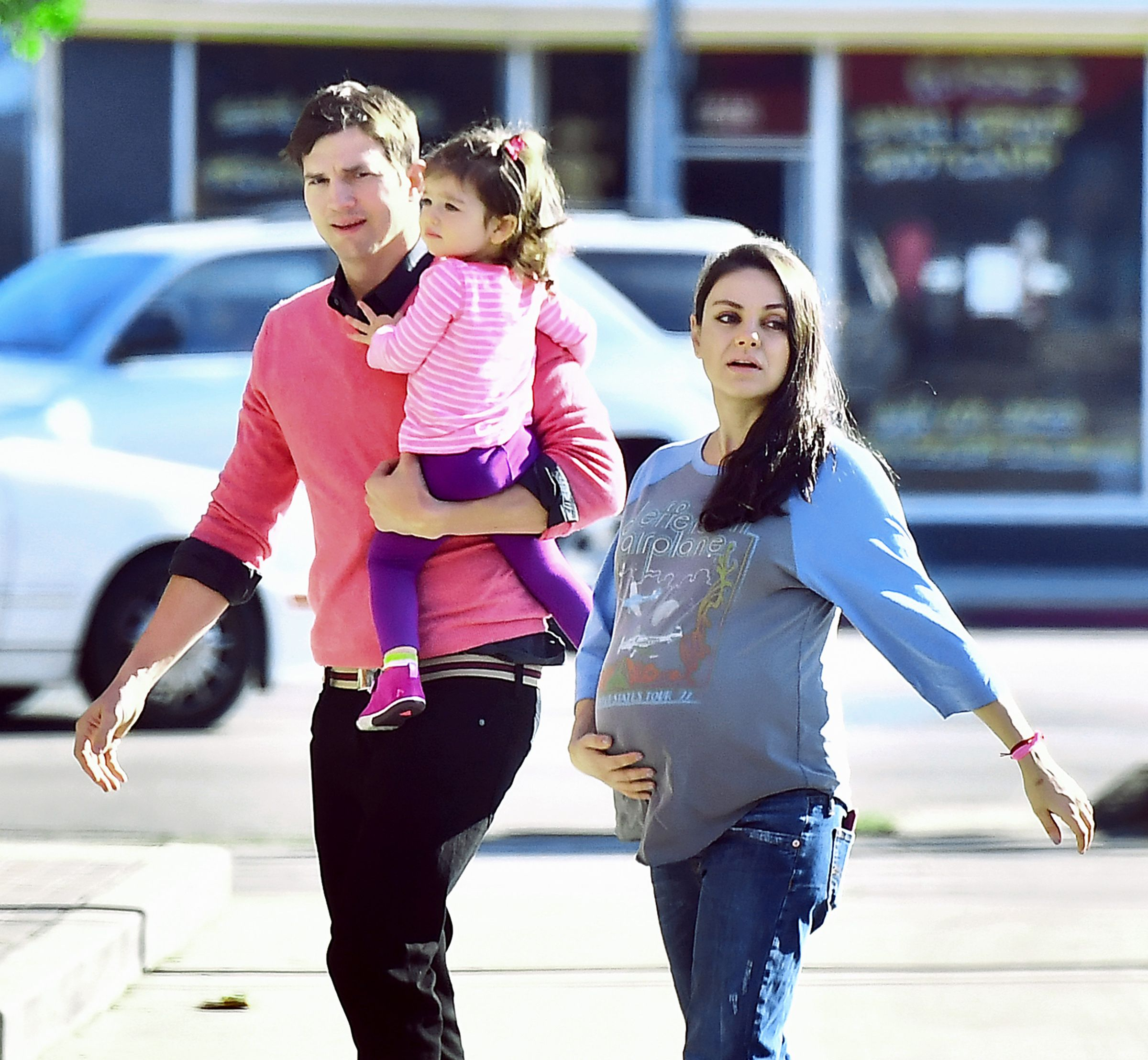 Mila Kunis And Ashton Kutcher S Kids Look Just Like Them With